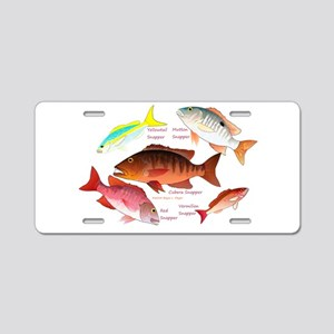 5 snappers Aluminum License Plate