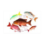 5 snappers Wall Decal