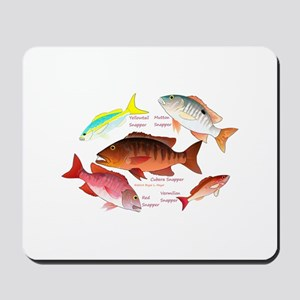 5 snappers Mousepad