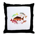 5 snappers Throw Pillow