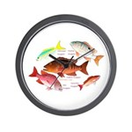 5 snappers Wall Clock