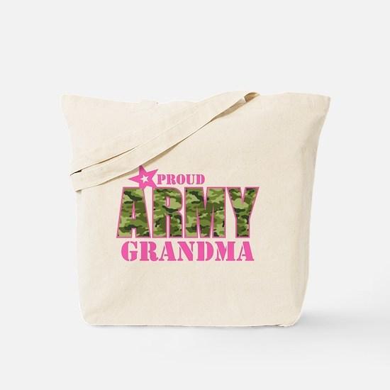 Camo Proud Army Grandma Tote Bag