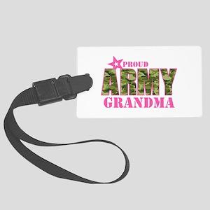 Camo Proud Army Grandma Large Luggage Tag