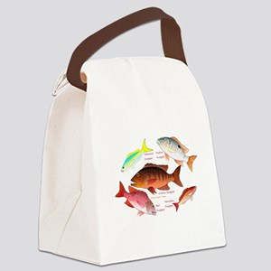 5 Snappers c Canvas Lunch Bag