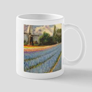 Holland Flowers Windmill Triptych 2 of Mug