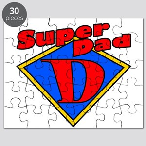 Super Dad Red/Yellow/Blue Fathers Day Puzzle