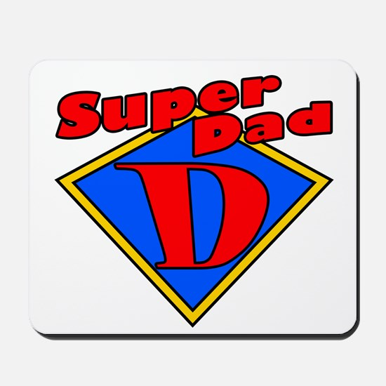 Super Dad Red/Yellow/Blue Fathers Day Mousepad