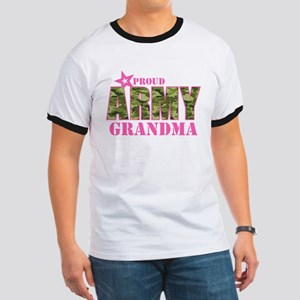 Camo Proud Army Grandma Ringer T