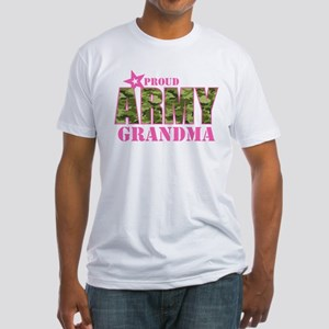 Camo Proud Army Grandma Fitted T-Shirt