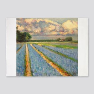 Holland Flower Windmill Landscape T 5'x7'Area Rug