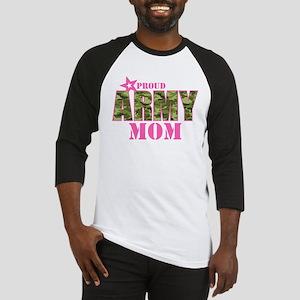 Camo Proud Army Mom Baseball Jersey