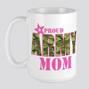 Camo Proud Army Mom Large Mug