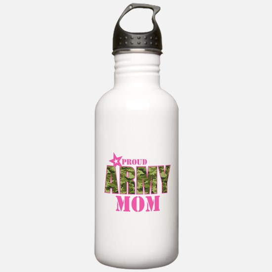 Camo Proud Army Mom Water Bottle
