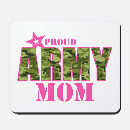 Camo Proud Army Mom Mousepad