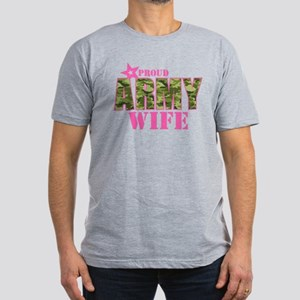Camo Proud Army Wife Men's Fitted T-Shirt (dark)