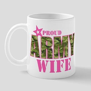 Camo Proud Army Wife Mug