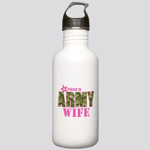Camo Proud Army Wife Stainless Water Bottle 1.0L