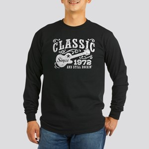 Classic Since 1972 Long Sleeve Dark T-Shirt