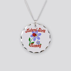 Natural Birth Mommy Necklace Circle Charm