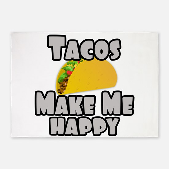 Tacos Make Me Happy 5'x7'Area Rug