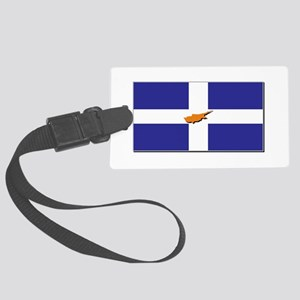 Flags of Greek Cypriots Large Luggage Tag