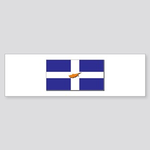 Flags of Greek Cypriots Sticker (Bumper)