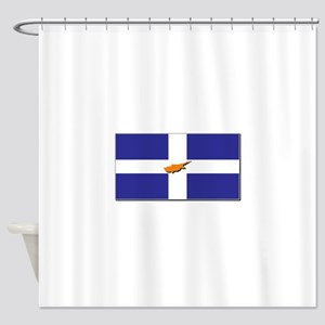 Flags of Greek Cypriots Shower Curtain