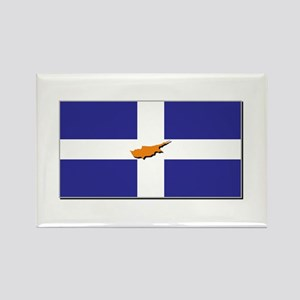 Flags of Greek Cypriots Rectangle Magnet