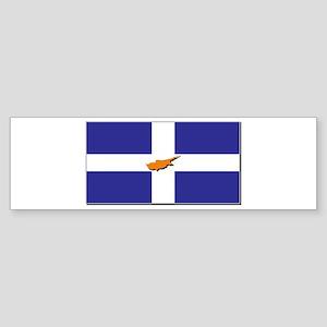 Flags of Greek Cypriots Sticker (Bumper)