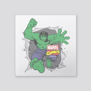 "Hulk Rip Square Sticker 3"" x 3"""