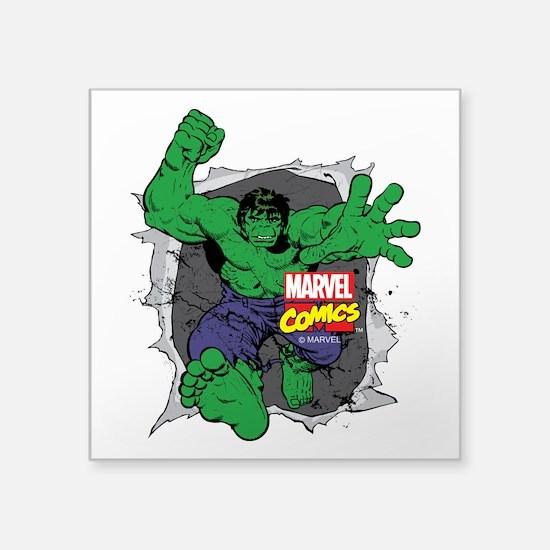 """Hulk Rip Square Sticker 3"""" x 3"""""""