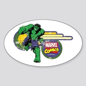 The Hulk Retro Sticker (Oval)