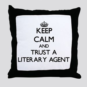 Keep Calm and Trust a Literary Agent Throw Pillow
