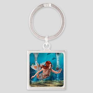 Mermaid holding Sea Lily Keychains