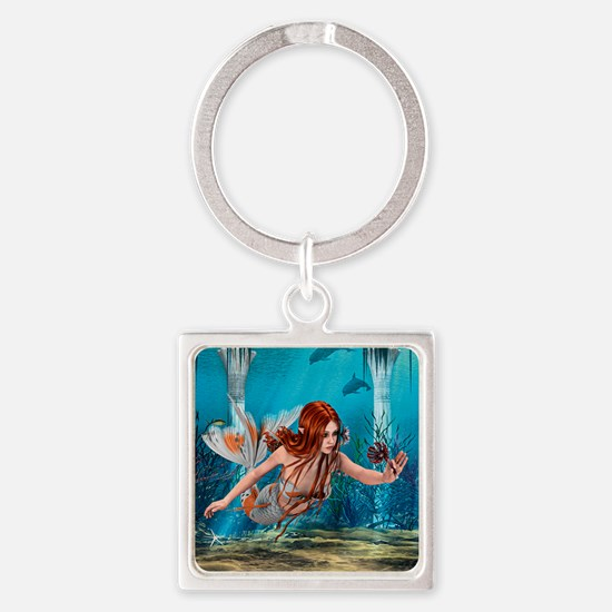 Mermaid holding Sea Lily Keychains