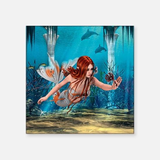 Mermaid holding Sea Lily Sticker