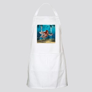 Mermaid holding Sea Lily Apron