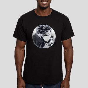 Ukulele Cat Men's Fitted T-Shirt (dark)