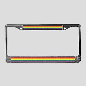 Gay Rainbow Bars License Plate Frame