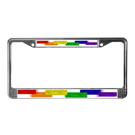 Gay bear license plate frame