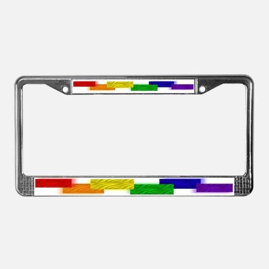 Gay Pride Blocks License Plate Frame