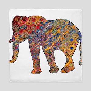Artisan Elephant Print Queen Duvet