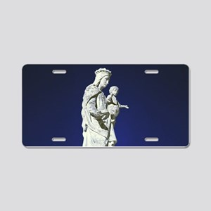 Infrared madonna and child Aluminum License Plate
