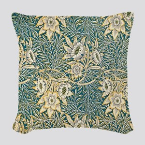 William Morris Tulip and Willow Woven Throw Pillow