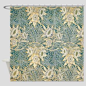 William Morris Tulip and Willow Shower Curtain