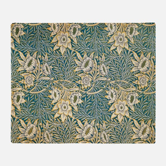 William Morris Tulip and Willow Throw Blanket