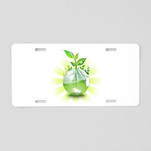 Green Earth Aluminum License Plate