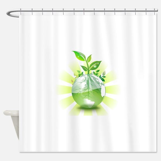 Green Earth Shower Curtain