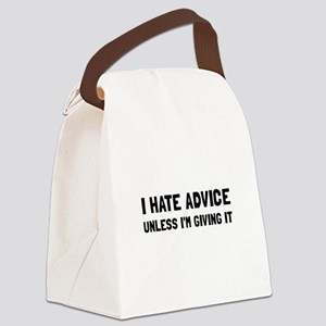 Hate Advice Canvas Lunch Bag