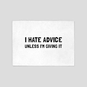 Hate Advice 5'x7'Area Rug